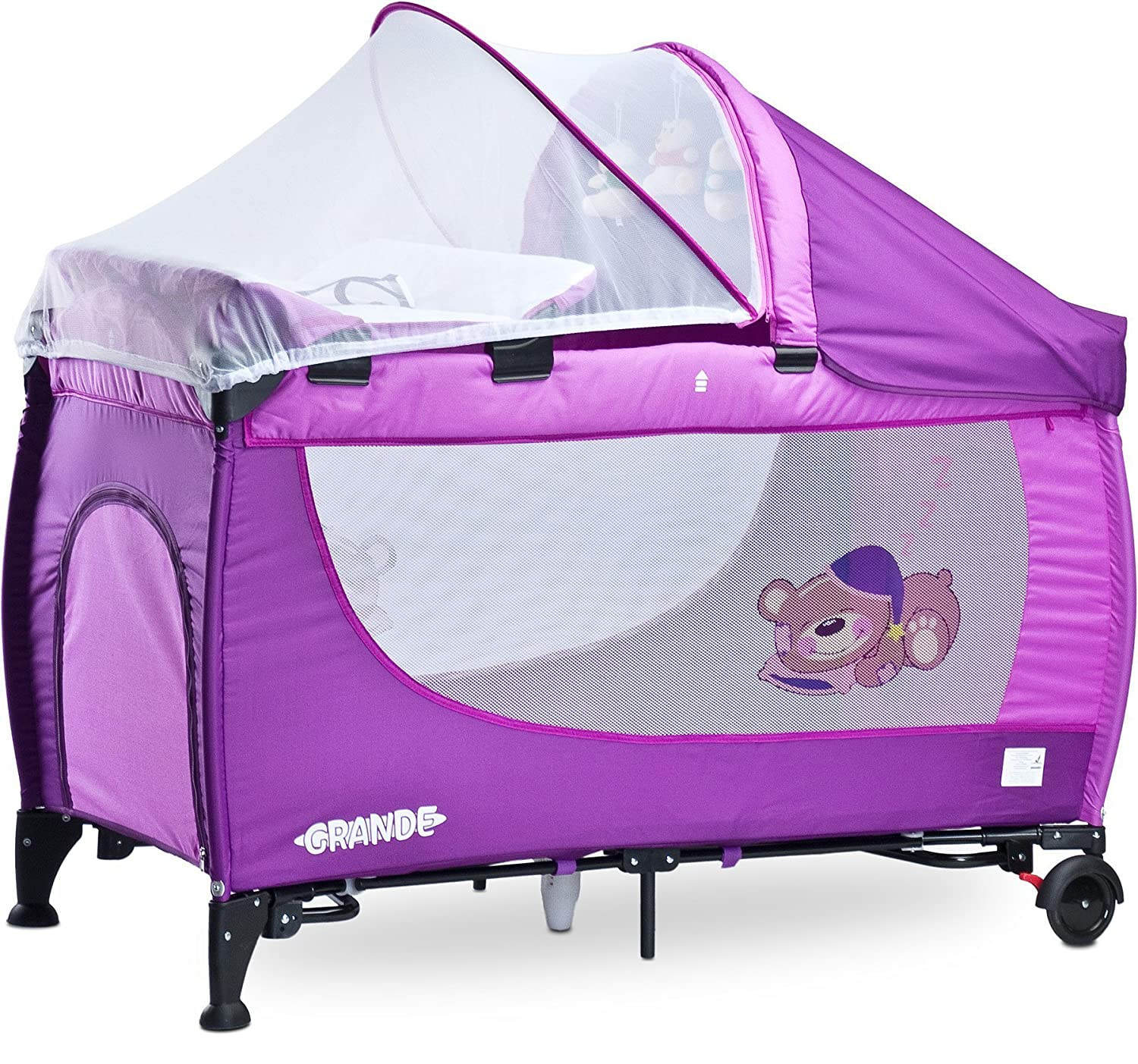 Caretero Grande Kinderbett-Reisebett - Purple