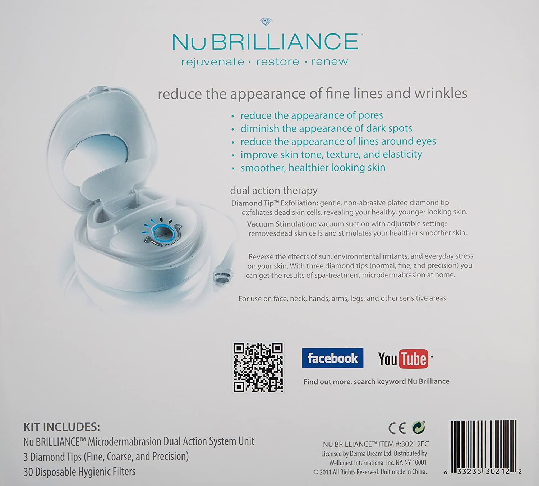 nubrilliance microdermabrasion skin care system white