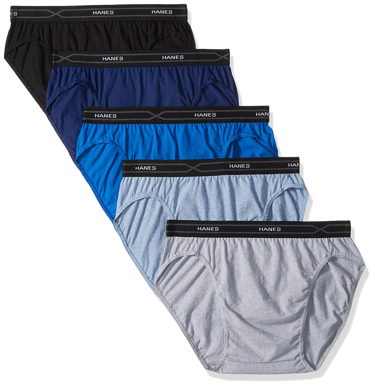 Hanes Men's 5-Pack X-Temp Low Rise Sport Brief 953LR5