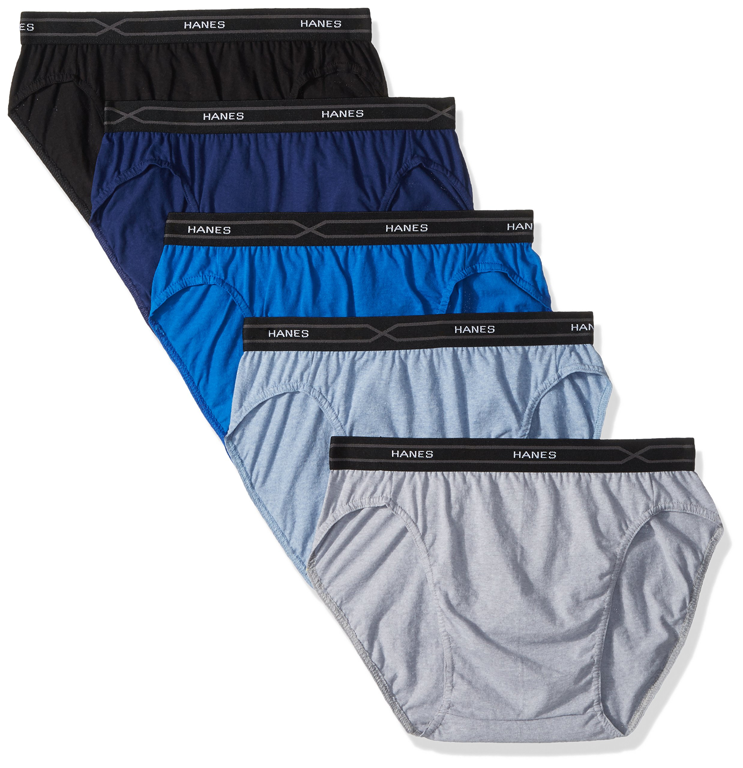 Hanes Men's 5-Pack X-Temp Low Rise Sport Brief, Assorted, Large by Hanes