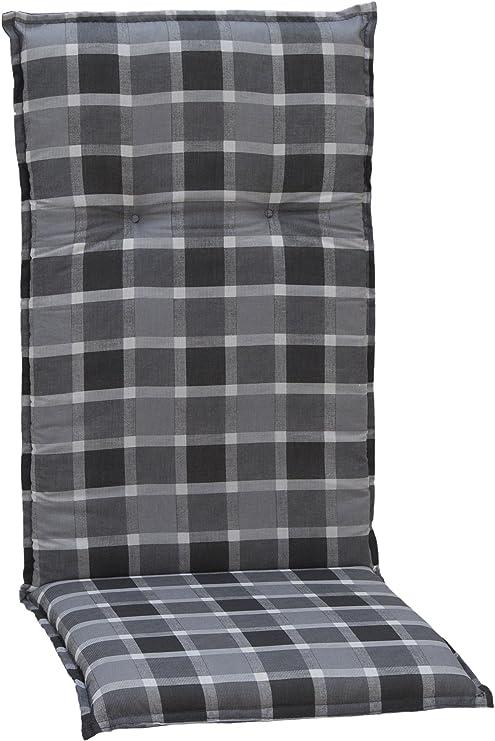 Gartenstuhl-Kissen - Cojines para sillas de jardín, Respaldo Alto, 118 x 48 x 6 cm