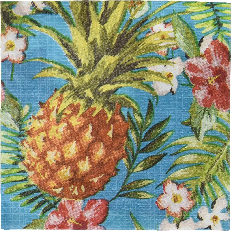 "Creative Converting Aloha Beverage Napkins, 5"", Multi-colored"