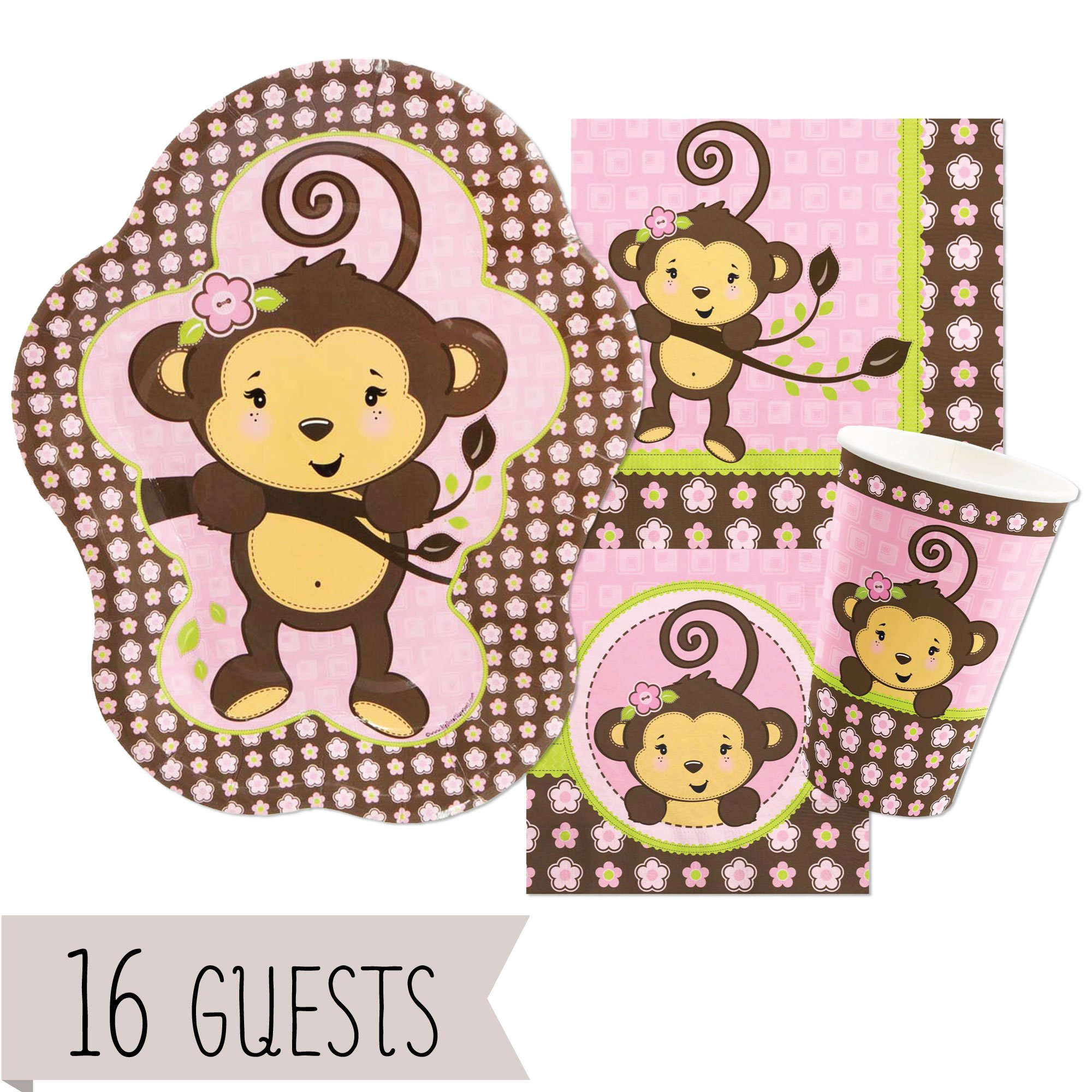 Party Balloons Zurich: Girl Monkey Birthday Party