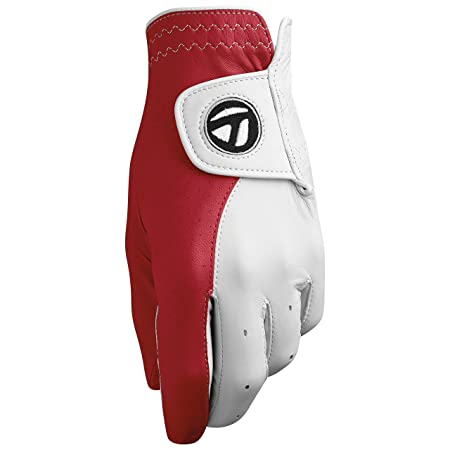 TaylorMade Tour Preferred Vivid Glove White Red