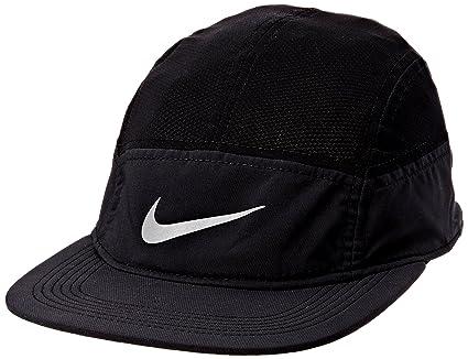 e76a3ab79d3 Amazon.com   Nike Mens Run Zip AW84 Adjustable Running Hat Black ...