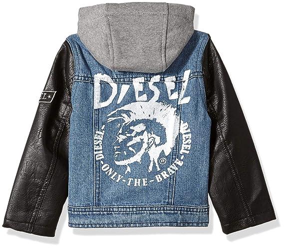 Diesel Boys Denim Jacket with Purple Sleeves
