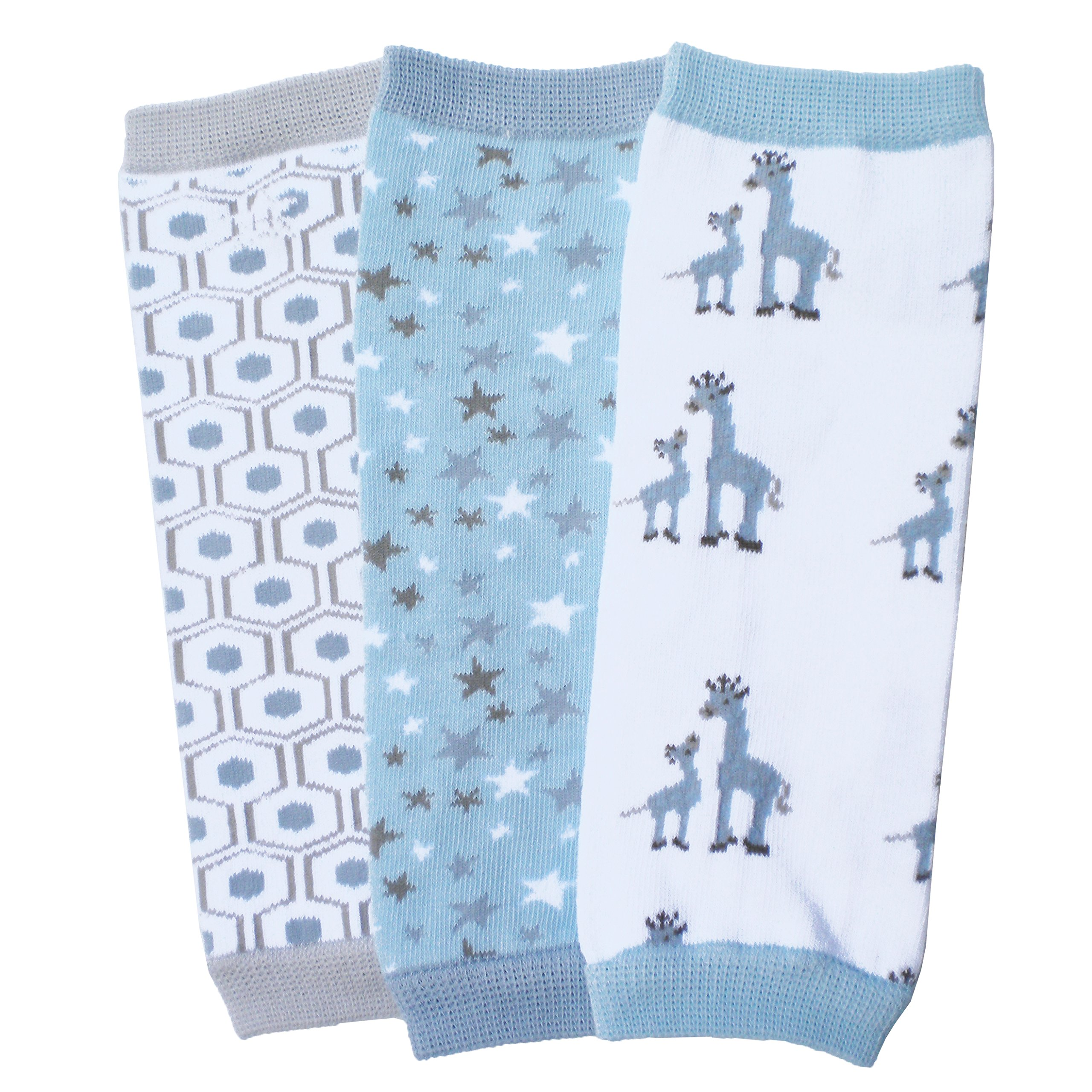 Huggalugs Baby Boy Giraffe Blue Baby Legwarmer Set,Baby (fits newborn up to 6 months) by Huggalugs