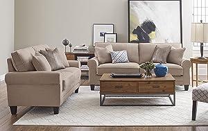Serta® RTA Copenhagen Collection Sofa in Marzipan
