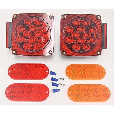 EAGLEKING 007N 12V LED Trailer Tail Light Multi-Function Submersible Reflectors DOT: Automotive