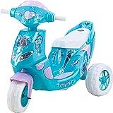 Kid Trax Frozen Twinkling Lights Scooter 6V Girl's KT1163 Ride On, Blue