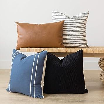 Amazon.com: Fundas de almohada decorativas tejidas Nook solo ...