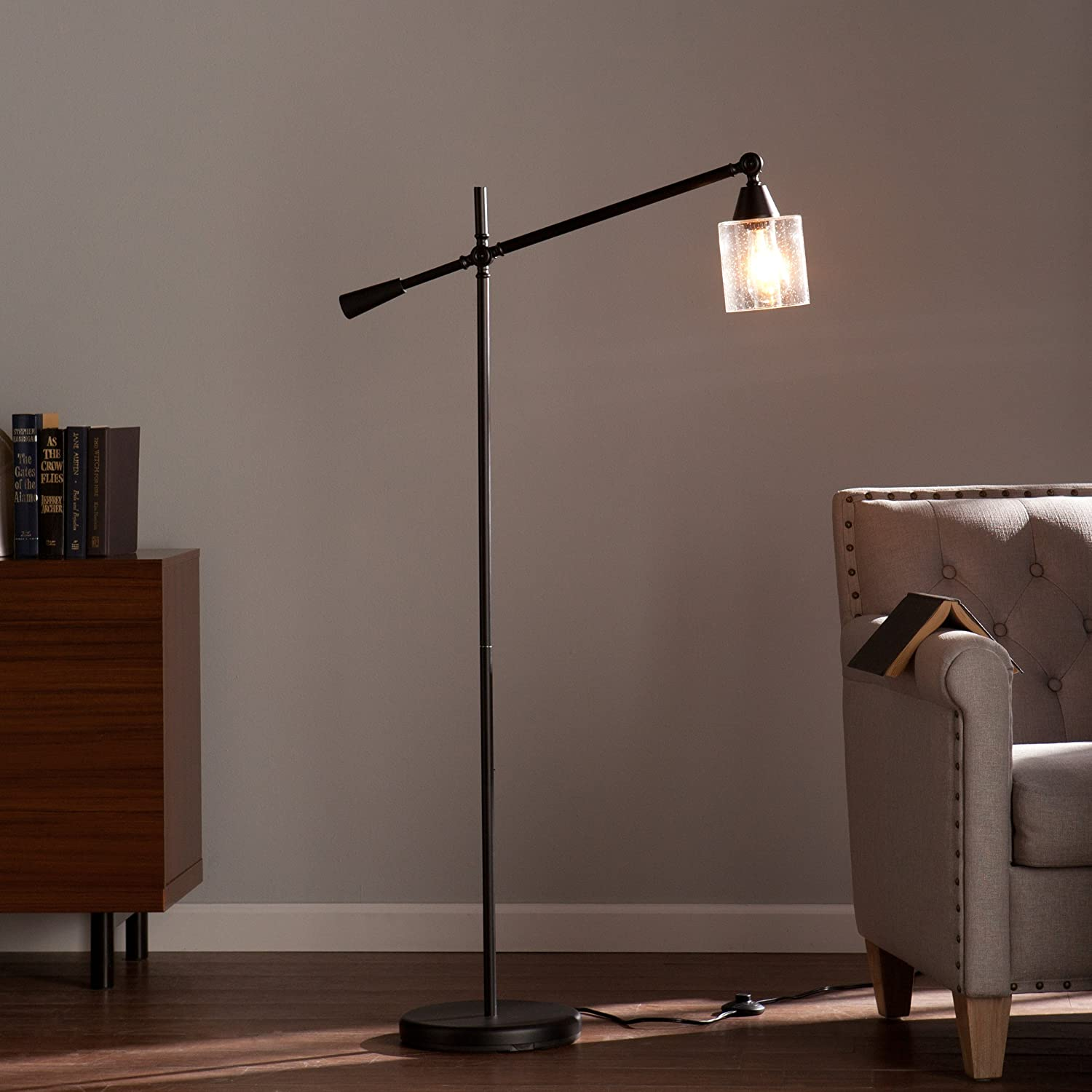 Southern Enterprises Thurston Floor Lamp, Black