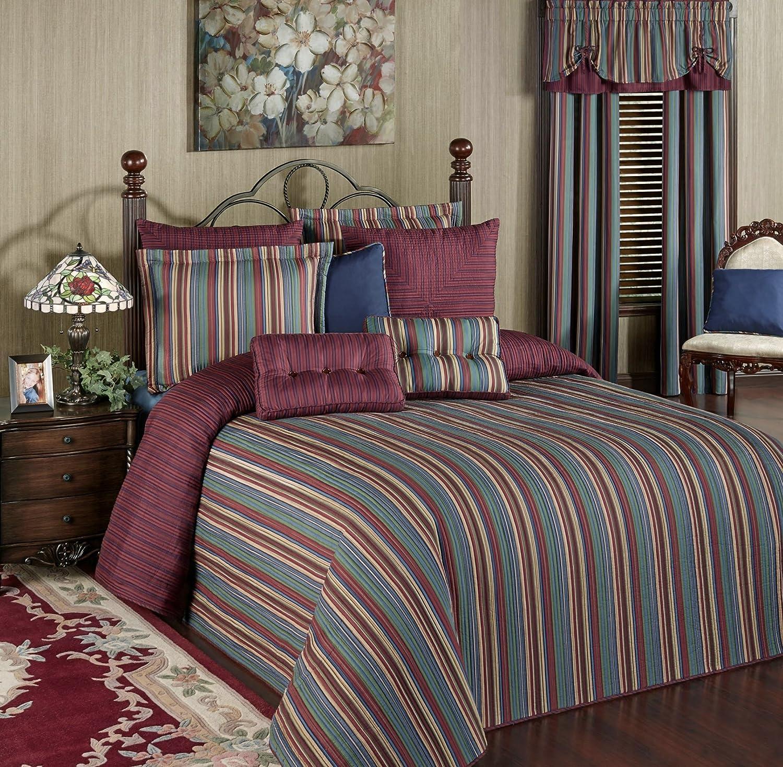 Amazon com touch of class brighten grande bedspread multi jewel home kitchen