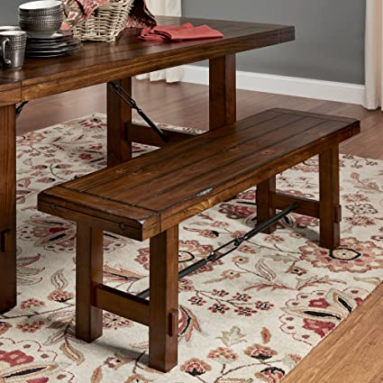 Groovy Amazon Com Dining Bench Rustic Oak Details Like A Worn Alphanode Cool Chair Designs And Ideas Alphanodeonline