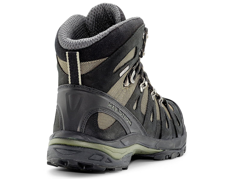 5978971d5c826 Maelstrom Men s Botas de montaña para Negro  Olivo Mochilero al Impermeable  aire libre Trekking Caza - Con estilo cómodo Impermeable ligero Botas - 1  año ...