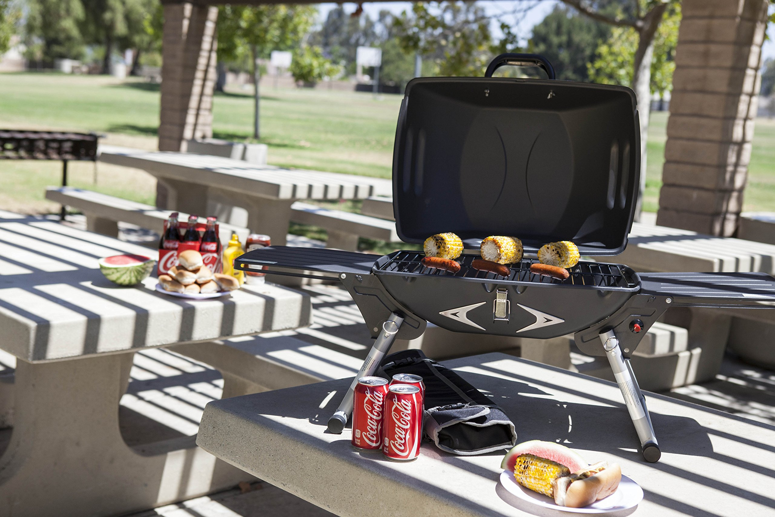 Picnic Time Portagrillo Portable Propane BBQ Grill by ONIVA - a Picnic Time brand (Image #5)