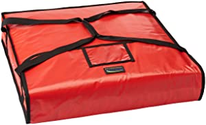 """New Star Foodservice 50110 Insulated Pizza Delivery Bag, 22"""" by 22"""" by 5"""", Red"""