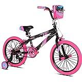 "Kent 18"" Sparkles Girls Bike, Black/Pink Summer Toy Kids Outdoor Play"