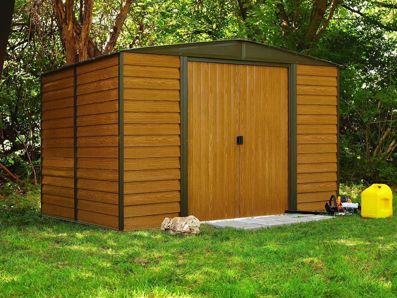 amazon com arrow wr1012 woodridge eg steel storage shed 10 by