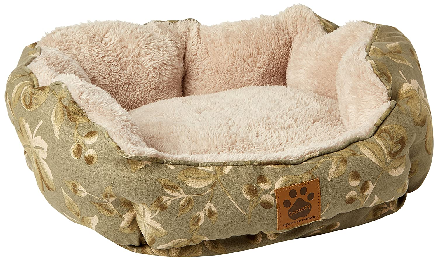 Precision Pet Clamshell Bed, Green Print