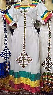Amazon com: Ethiopian Eritrean Hand Made Dress Traditional