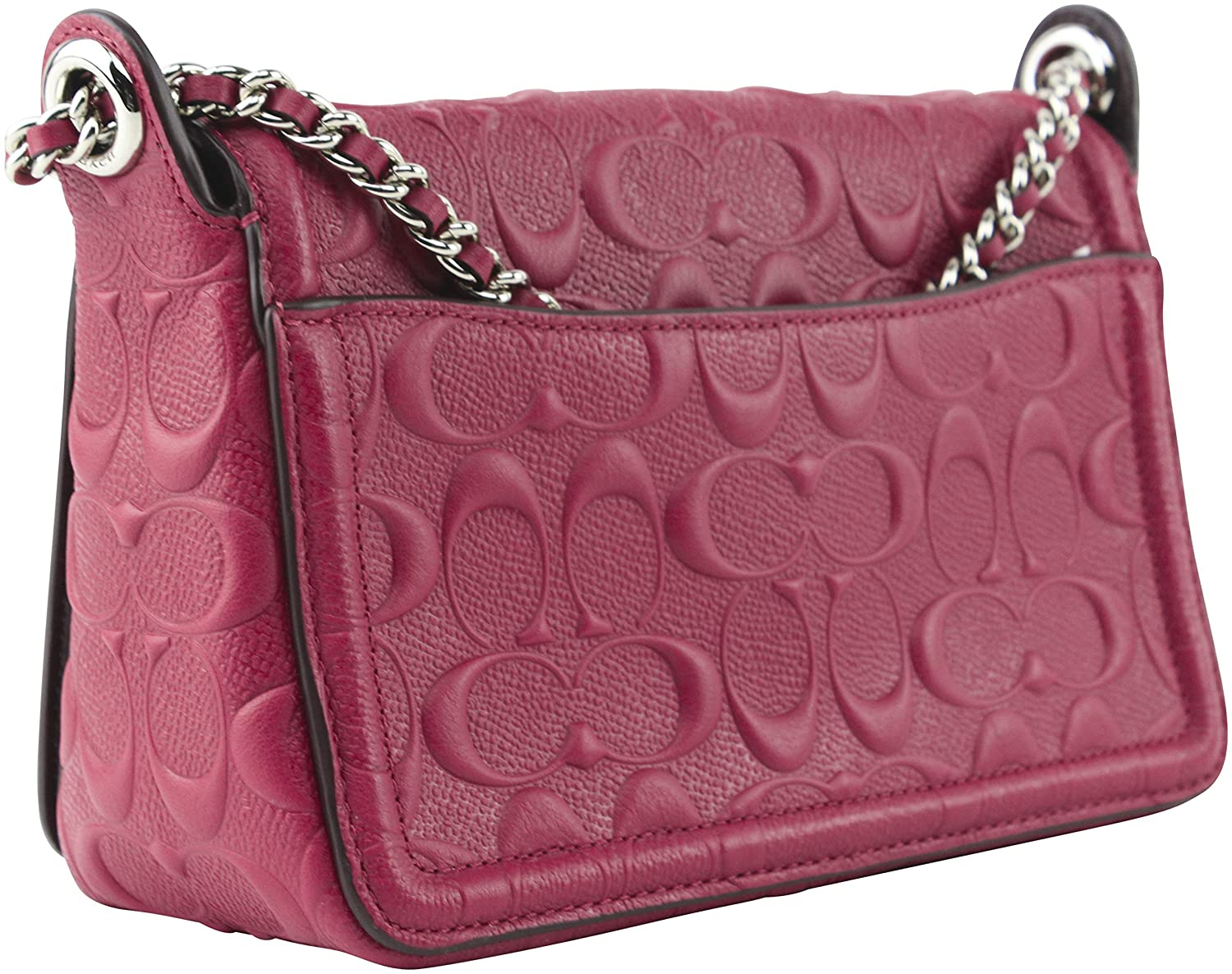 9875d5f800 Amazon.com  Coach Women s Lex Flap SV Hot Pink Signature Patent Leather  Cross Body Bag