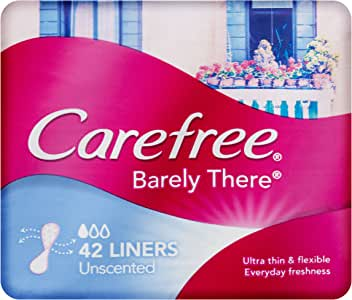 Carefree Pantyliner Barely There Unscented, 42ct