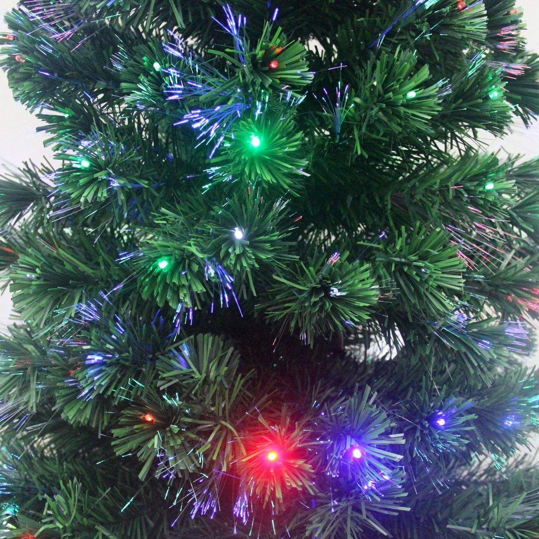 Amazon.com: Signstek 8FT Artificial Fiber Optic Christmas Tree 300 ...