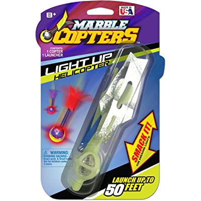 Skullduggery Marble Copters Light-Up Launch-Powered High Flying Finger Rocket Copter: Toys & Games
