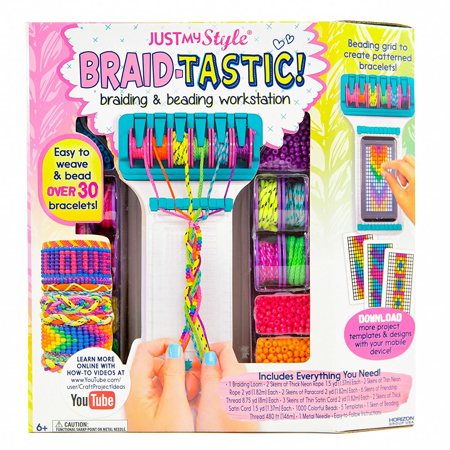 Amazon Com Just My Style Braidtastic Art And Craft Kit By Horizon
