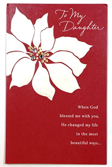 Amazon Com Christmas Card For Daughter To My Daughter When God