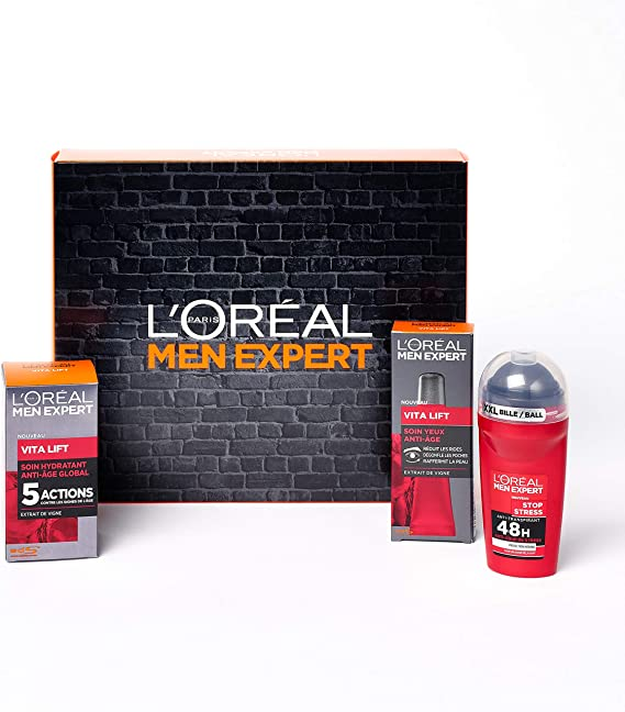 LOréal Men Expert - Coffret Saint Valentin Vitalift 3 produits: Amazon.es: Belleza