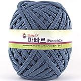 Papardelle Sassy Fabric Tshirt Yarn (Weaved cotton), Light Blue Jean
