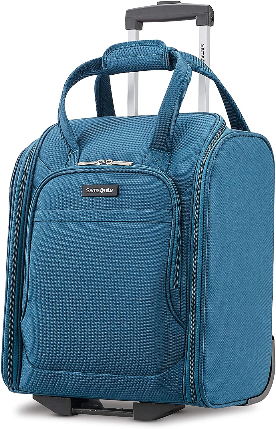 Samsonite Ascella X Softside Expandable Luggage with Spinner Wheels, Teal, Underseater
