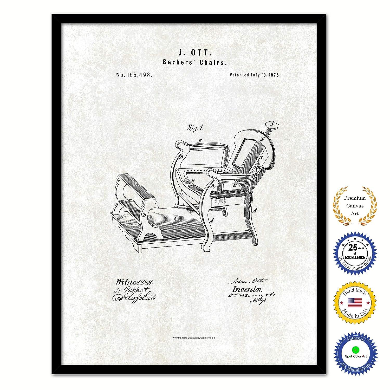 Amazing Amazon Com 1875 Barbers Chairs Vintage Patent Canvas Print Machost Co Dining Chair Design Ideas Machostcouk