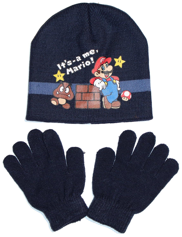 Super Mario Mütze & Handschuhe Set in verschiedenen Farben & Größen (HO4457)