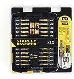 Stanley STA88040 Embout de Vissage et Amplificateur Magnétique, Noir, Set de 21 Pièces