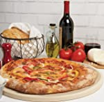CucinaPro Pizza Stone for Oven, Grill, BBQ- Round Pizza Baking Stone-