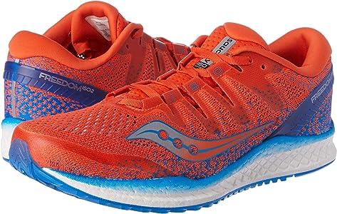 Saucony Freedom ISO 2, Zapatillas de Running para Hombre, Naranja (Orange/Blue 36), 40.5 EU: Amazon.es: Zapatos y complementos