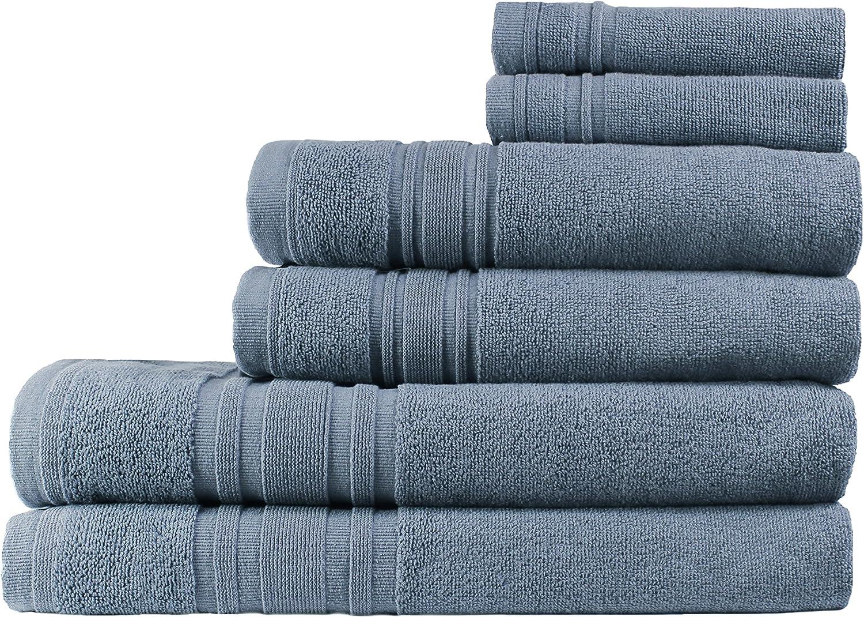 Blue M/élange Home Melange Home 205219 2 Piece Bath Sheet Set