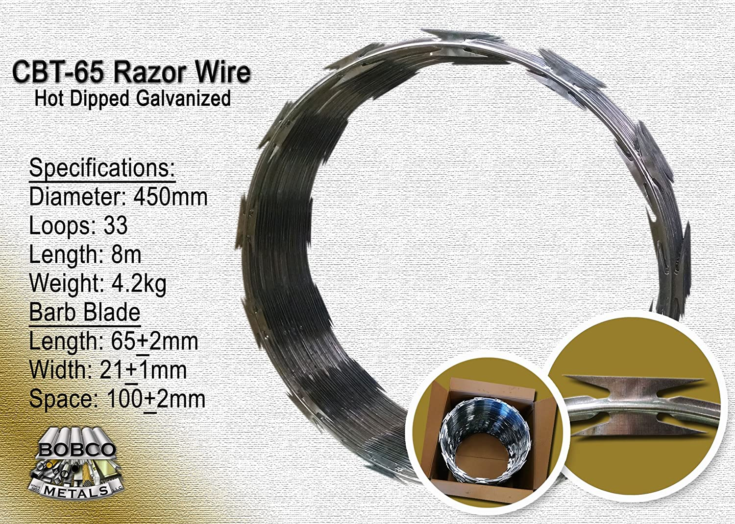 Amazon.com : Razor Wire Razor Ribbon Barbed Wire 18\
