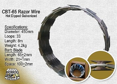 Amazon razor wire razor ribbon barbed wire 18 1 coil 50 feet razor wire razor ribbon barbed wire 18quot 1 coil 50 feet per roll greentooth Image collections