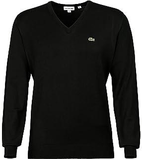 c9fc78efe25e Lacoste AH3015 Herren Pullover V-Ausschnitt,Männer Basic Strickpullover,Freizeit  und Business Pulli