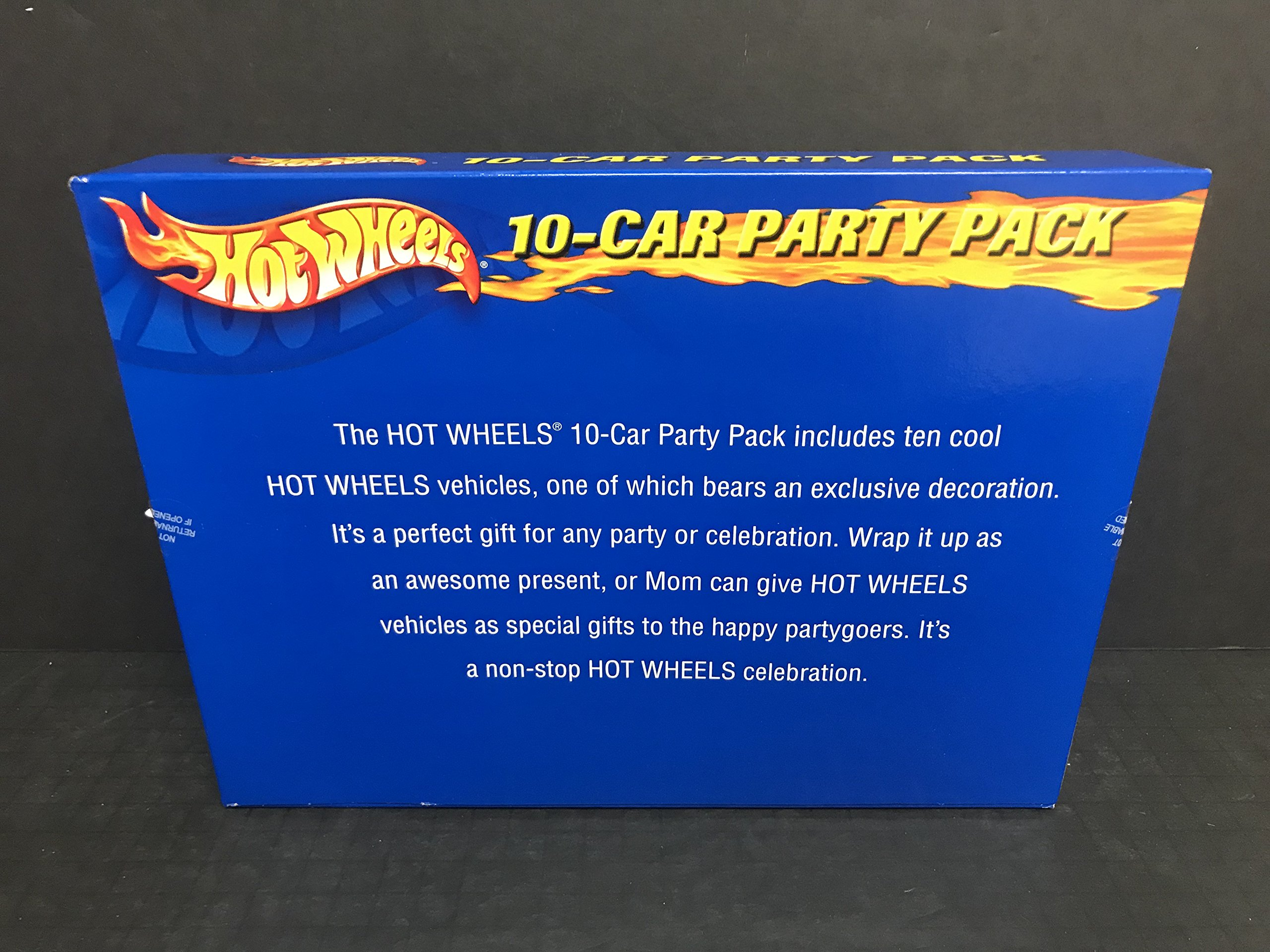 HOT WHEELS 10 Car Party Pack 1:64 scale diecast cars with K Mart Exclusive vehicle 2001 Mattel