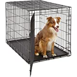 Large Dog Crate   Midwest Life Stages Folding Metal Dog Crate   Divider Panel, Floor Protecting Feet, Leak-Proof Dog…