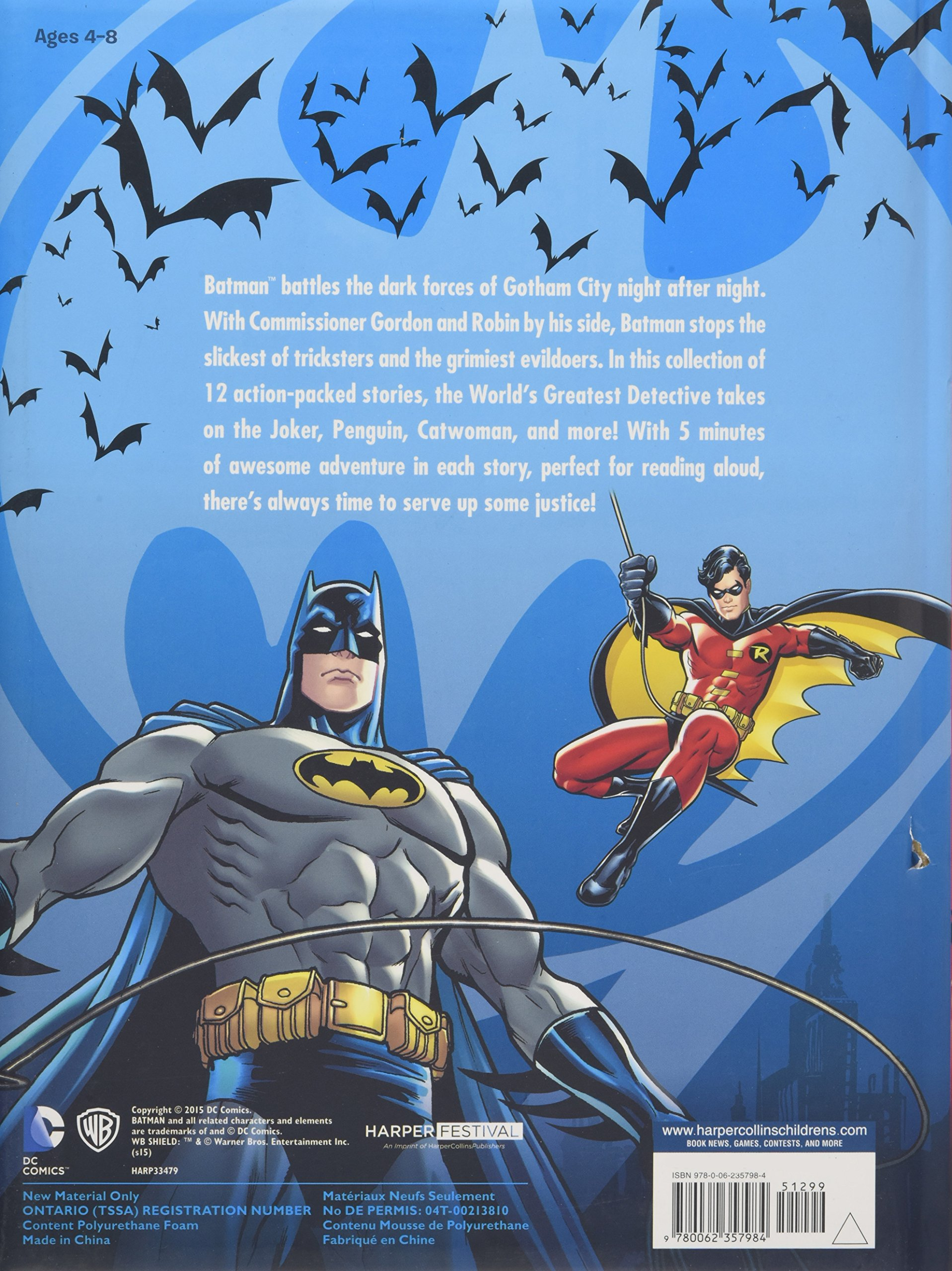 Batman Classic: 5-Minute Batman Stories by Harper Festival