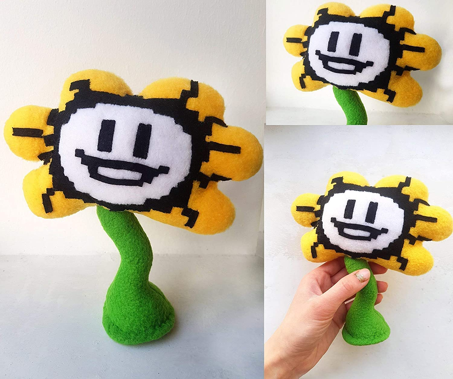 Undertale Flowey handmade plush, 7 in high