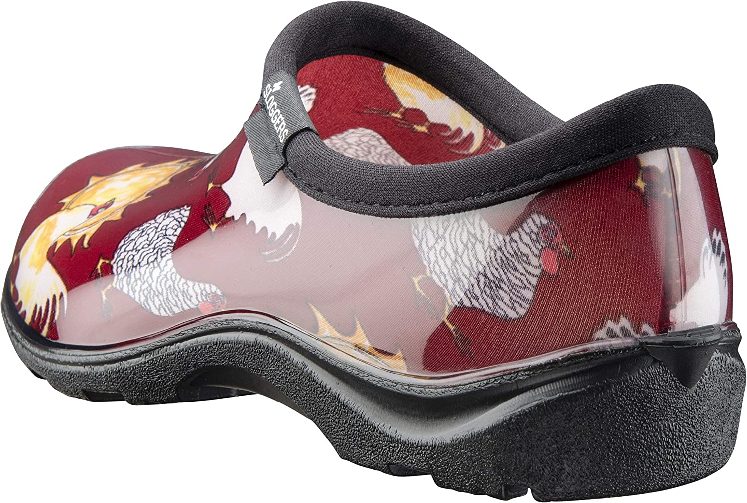 Sloggers Women's Waterproof Rain and Garden Shoe with Comfort Insole, Chickens Barn Red, Size 9, Style 5116CBR09: Garden & Outdoor