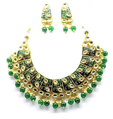 fbf5601fe6d11 Buy Maharani jewels Antique Designer Choker Necklace Set with ...