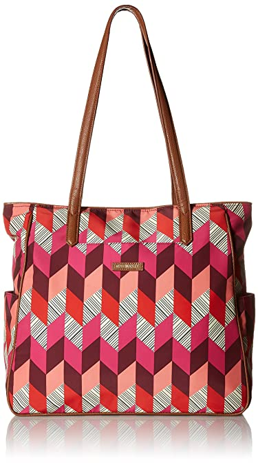 Amazon.com  Vera Bradley Preppy Poly Zip Top Tote 21eb5c0784486